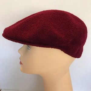 Vintage Original Kangol Burgundy Hat Large